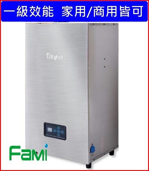 【fami】東湧Dyhot全預混瓦斯熱水器GT20DN 20公升(不鏽鋼色)強制排氣數位恆溫熱水器 一級節能