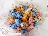 娃娃屋樂園~豪華(羽毛)30隻微笑熊.金莎棒可抽取式/分享花束 每束1800元/第二次進場/婚禮花束