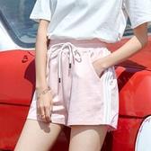運動短褲 ins潮休閒運動短褲女寬鬆學生正韓原宿bf夏季跑步外穿百搭熱褲薄【降價兩天】