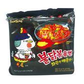 三養火辣雞肉風味鐵板炒麵140G*5【愛買】