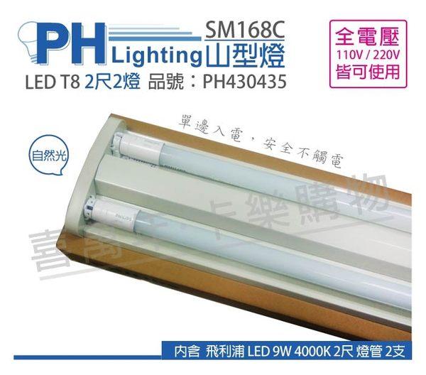 PHILIPS飛利浦 SM168C LED 18W 6500K 白光 全電壓 2尺 山型吸頂燈 _ PH430436