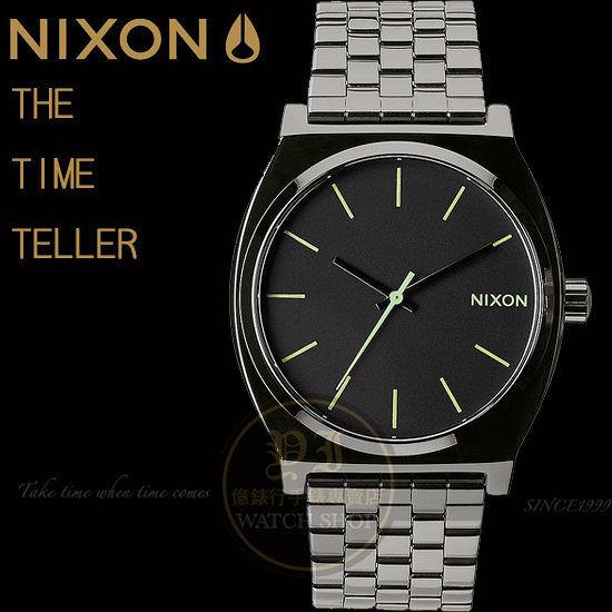 【億錶行】NIXON 實體店TIME TELLER潮流腕錶POLISHED GUNMETAL/LUM A045-1885原廠公司