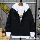 男生外套 秋季牛仔夾克男士韓版修身工裝夾克潮流男裝棒球服春秋款上衣外套『極致男人』