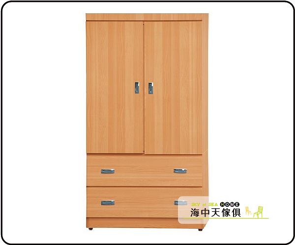 {{ 海中天休閒傢俱廣場 }} J-37 摩登時尚 衣櫥系列 580-367 雙囍山毛3x6尺衣櫥
