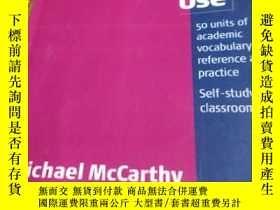二手書博民逛書店Academic罕見vocabulary in Use使用中的學術詞匯Y434132