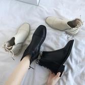 马丁靴女英伦风秋季2019年新款百搭潮瘦瘦增高日系短靴女YJ987【雅居屋】