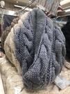 日本進口~毛線編織款 內刷毛 保暖脖圍