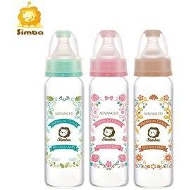 『121婦嬰用品館』Simba 小獅王辛巴 蘿蔓晶鑽標準玻璃大奶瓶240ml/粉
