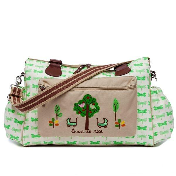 媽媽包 Pink Lining 時尚繽紛媽媽包 │ 雙胞胎大樹系列 - 綠蜻蜓款 #13SS011