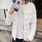 新款冬季男士棉衣加厚短款衣服青少年外套潮男裝棉襖連帽韓版  蘑菇街小屋