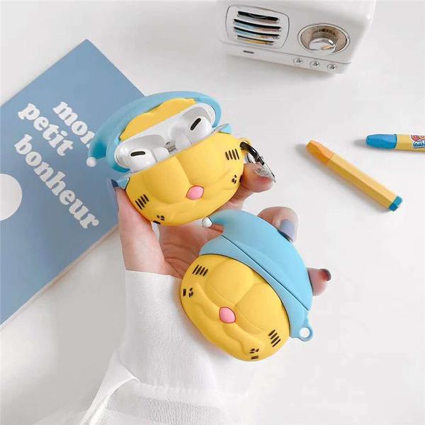 Airpods Pro 專用 1/2代 台灣發貨 [ 愛睏加菲貓 ] 藍芽耳機保護套 蘋果無線耳機保護
