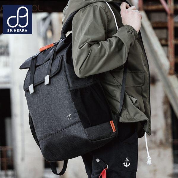 後背包 防水面料潮流商務款 USB款多口袋筆電平版後背包 男包 89.HERRA-HB89303