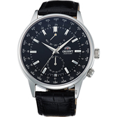 ORIENT 東方錶 WORLD TIME 都會型男機械錶-黑/43.5mm SFA06002B