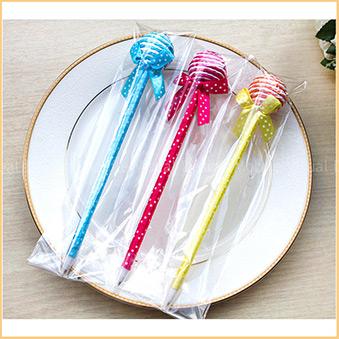 日韓文具-(附贈透明袋包裝)球型棒棒糖原子筆.藍筆.韓國文具.禮贈品.婚禮小物批發《不挑款》