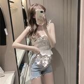 牛仔短褲 短褲子夏季新款女裝韓版時尚水鉆流蘇高腰闊腿毛邊牛仔褲潮 - 巴黎衣櫃