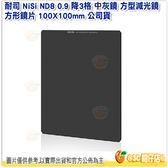 送清潔擦 耐司 NiSi ND8 0.9 降3格 中灰鏡 方型減光鏡 方形鏡片 100X100mm 公司貨