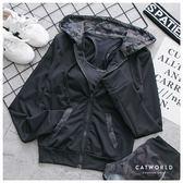 Catworld 迷彩印花連帽運動外套【15003538】‧S/M/L/XL/XXL