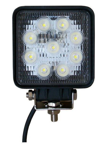 LED燈27W工作燈12V 24V照明燈投射燈霧燈方形聚光白光