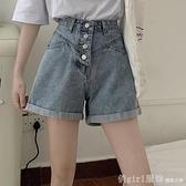 夏季2021年新款牛仔褲女百搭高腰顯瘦寬褲a字短褲女夏寬鬆褲子 618年中大促銷