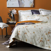 HOLA 蘿樂花園純棉床被組 雙人