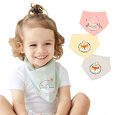 Muslin tree嬰兒口水巾全棉寶寶卡通圍兜 新生兒防髒小圍巾-JoyBaby