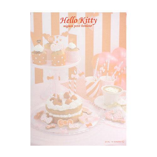 ★funbox生活用品★《Sanrio》HELLO KITTY法式浪漫系列B7精裝便條本(歡樂派對)_UA45357