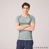 【GIORDANO】 男裝COOLMAX透氣花紗運動上衣-05 仿段彩六月蟲綠