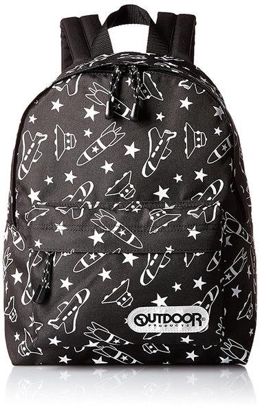 【日本代購】Outdoor Products 超輕量繽紛多彩後背包(小)-黑色