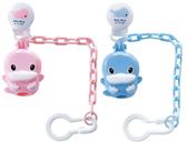 【奇買親子購物網】酷咕鴨KU.KU. 造型奶嘴收藏盒+奶嘴鍊(藍色/粉色)