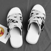 涼鞋 網紅拖鞋男夏時尚外穿2019新款韓版潮流個性防滑室外沙灘男士涼鞋 果寶時尚