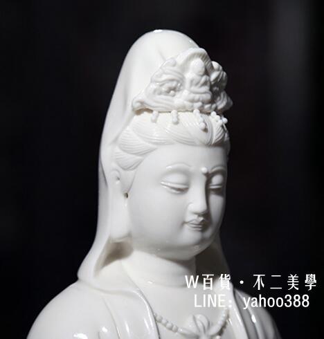 坐蓮觀音陶瓷德化觀音佛教工藝白瓷模型