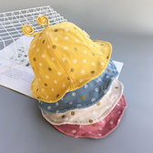 春秋寶寶漁夫帽子圓點蝸牛盆帽太陽帽夏天1-2-3歲男女兒童遮陽帽 夢幻衣都