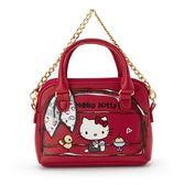 【震撼精品百貨】Hello Kitty 凱蒂貓-Sanrio HELLO KITTY復古貼心系列PU皮革鑰匙收納包附鍊#13608
