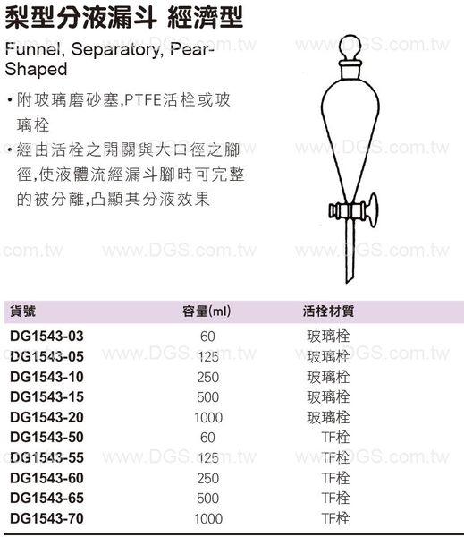 梨型分液漏斗 經濟型 Funnel, Separatory, Pear- Shaped