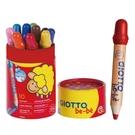 義大利 GIOTTO BE-BE 寶寶可洗式木質蠟筆 附筆削 - 10色裝
