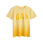 Gap男童漸變風格徽標LOGO短袖T恤539655-哈瓦那黃
