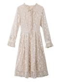 女裝2019新款秋冬收腰顯瘦氣質仙女超仙打底長袖中長款蕾絲連衣裙