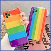彩虹系列套組 手機殼+耳機套 蘋果 iPhone11 AirPods 123代 11 Pro Max XR XS MAX iX i8+ i7+ SE2