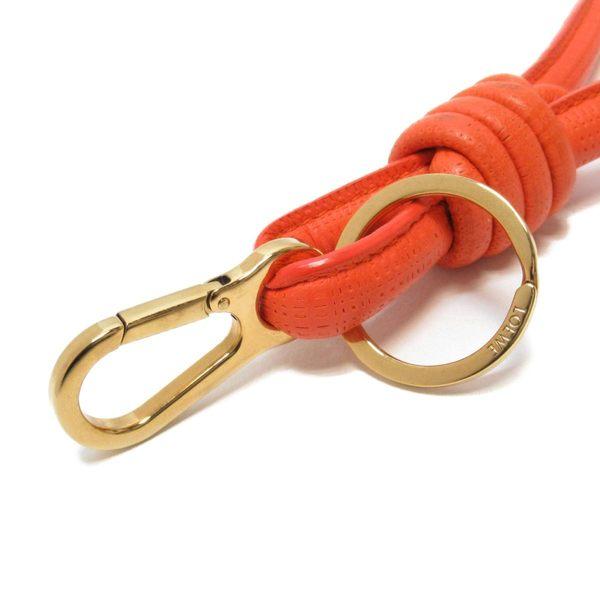 LOEWE 橘色皮繩吊飾 【二手名牌BRAND OFF】