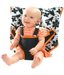 美國 My Little Seat可攜式寶寶安全椅套 經典黑白