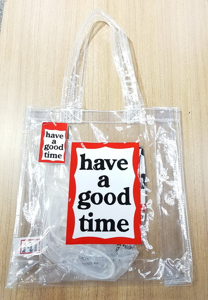 KR正韓- have a good time 透明包 購物袋-透明款 H1532