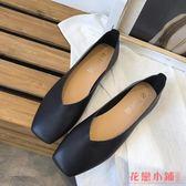 單鞋L小皮鞋I季韓版舒適復古淺口軟皮方頭單鞋女一腳蹬防滑平底