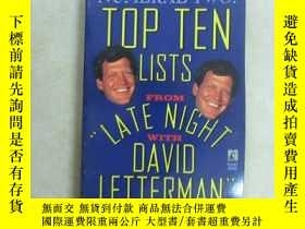 二手書博民逛書店英文書;TOP罕見TEN LISTS FROM LATE NIG