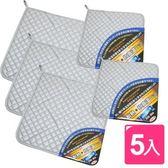 【AXIS 艾克思】高耐熱雙面銀膠隔熱墊(3大+2小)_5入組