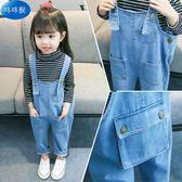 新年鉅惠女寶寶牛仔背帶褲2018新款小童洋氣時尚0一2-3-4歲小女孩秋季褲子 小巨蛋之家
