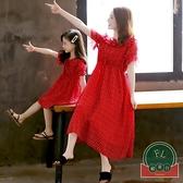 女童裝公主裙母女裝百搭親子裝夏裝雪紡連衣裙【聚可爱】