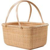 手提籃編織籃子 水果籃購物籃買菜籃收納籃臟衣籃掛籃 野餐籃大號 潮流衣舍