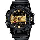 CASIO 卡西歐 G-SHOCK 藍芽音樂控制錶-黑金 GBA-400-1A9DR / GBA-400-1A9