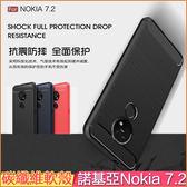 Nokia 7.2 手機殼 碳纖維 拉絲紋 諾基亞 Nokia7.2 保護套 全包邊 軟殼 手機套 防摔 硅膠套 保護殼