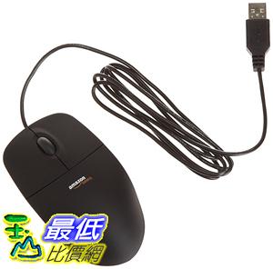 [106美國直購] AmazonBasics 滑鼠 3-Button USB Wired Mouse (Black)